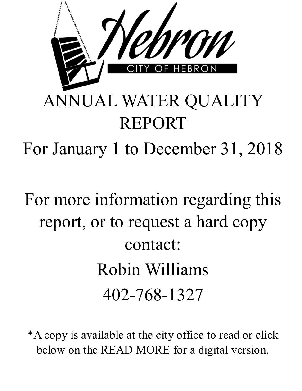 WATER REPORT 2018 WEBSITE