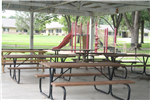 Picnic Tables in Picnic Shelter in Willard Park